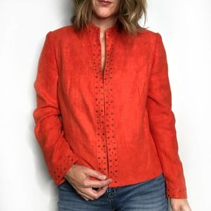 ALFRED DUNNER Faux Suede Jacket